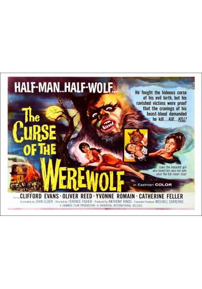 """La Maldición del Hombre Lobo (The Curse of the Werewolf) """"Poster en Horizontal"""" - Poster Laminado"""