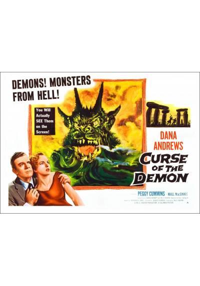 """La Noche del Demonio (Curse of the Demon) """"Poster en Horizontal"""" - Poster Laminado"""