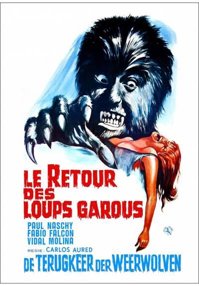 La furia del Hombre Lobo (Le Retour Des Loups Garous) - Poster Laminado