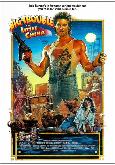 Golpe en la pequeña China (Big Trouble in Little China)  - Poster Laminado
