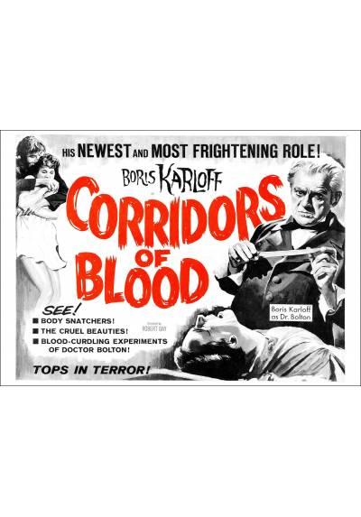 Pasillos de Sangre (Corridors of Bloodr) - Poster Laminado