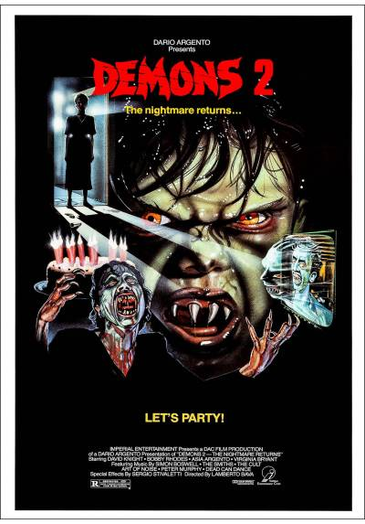 Demons 2 (Demons 2: The Nightmare Returns) - Poster Laminado