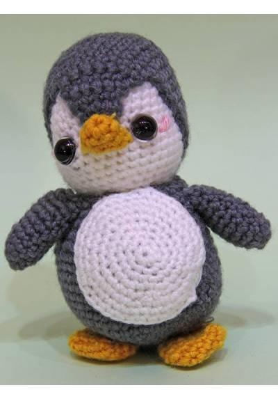 Pingüino Gris (Amigurumis)
