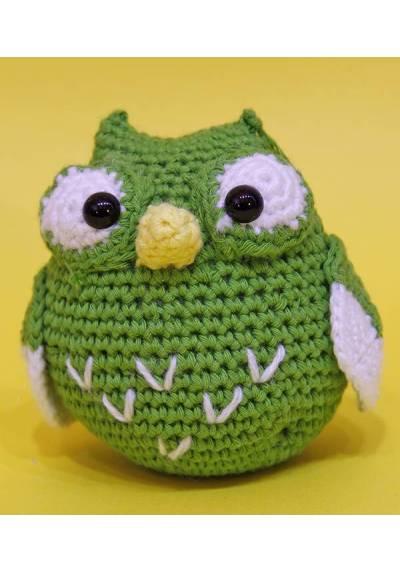Buho Verde de la suerte (Amigurumis)