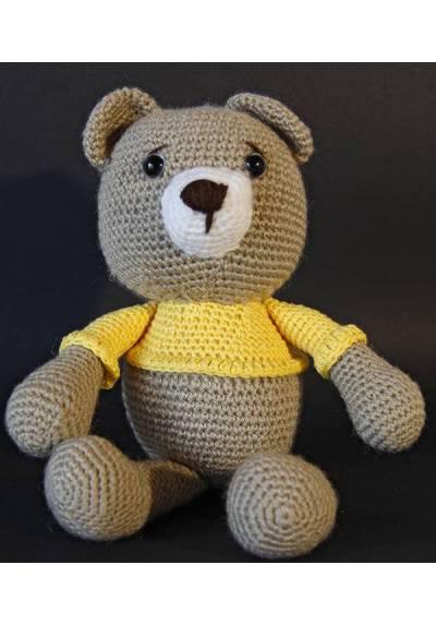 Osito Marrón con Camiseta Amarilla (Amigurumis)