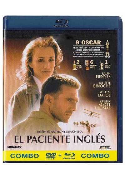 El Paciente Inglés  (Blu-Ray + Dvd) (The English Patient)