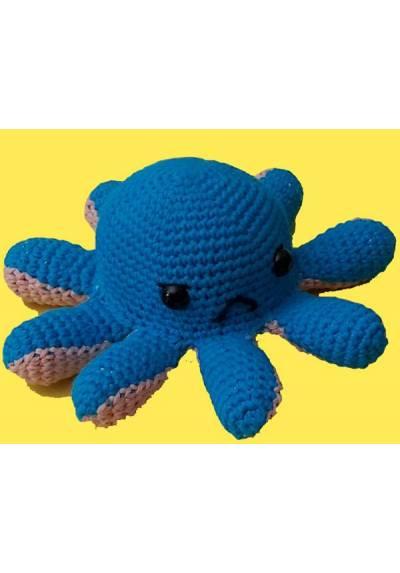 Pulpo Reversible Azul Claro y Lila claro (Amigurumis)