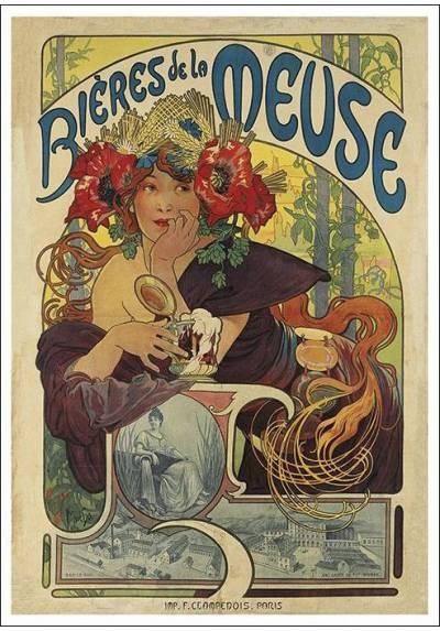 Bières de la Meuse - Alfons Mucha (POSTER 32x45)