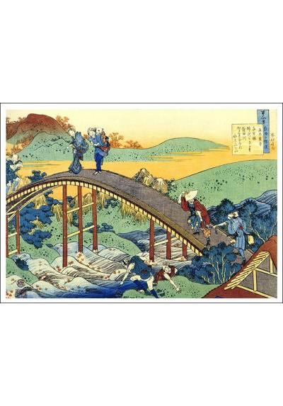 Puente Arqueado - Katsushika Hokusai (POSTER 45x32)