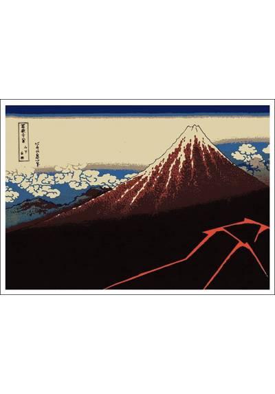 Monte Fuji - Katsushika Hokusai (POSTER 45x32)