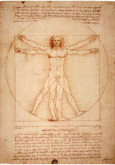 El Hombre de Vitruvio - Leonardo da Vinci (POSTER 32x45)