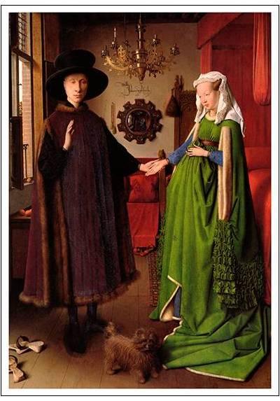 Retrato de Giovanni Arnolfini y su Esposa - Jan van Eyck (POSTER 32x45)