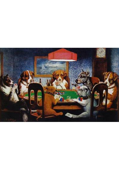 Poker Dogs - Cassius Marcellus Coolidge (POSTER 45x32)