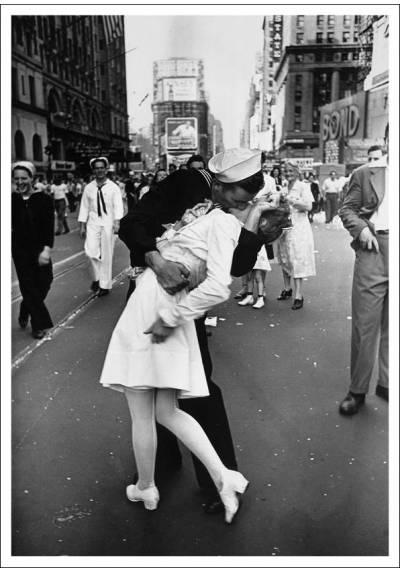Beso de la victoria en Times Square (POSTER 32x45)