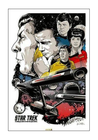 Star Trek 50th Aniversario - Personajes (POSTER 32x45)