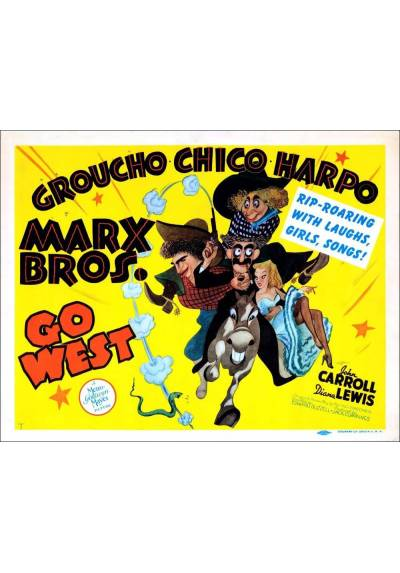 The Marx Brothers - Go West  (POSTER 45x32)