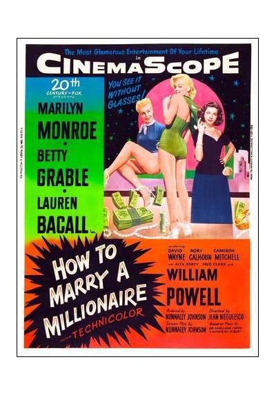 Marilyn Monroe - How to Marry a Millionaire - Cómo casarse con un millonario  (POSTER 32x45)