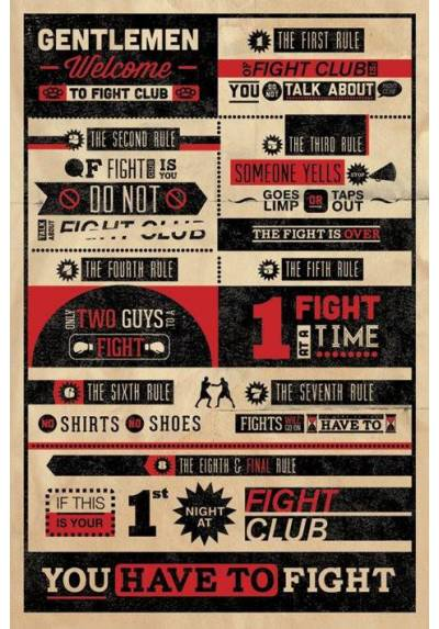 Fight Club - El club de la lucha - Reglas (POSTER 32x45)