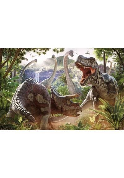 Poster en Horizontal Pelea de dinosaurios - David Penfound (POSTER  91,5 x 61)
