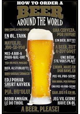 Poster Como pedir una cerveza (How To Order A Beer) (POSTER 61 x 91,5)
