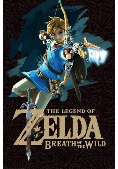 Poster de la portada del juego Zelda Breath Of The Wild (Aliento de lo salvaje) (POSTER 61 x 91,5)