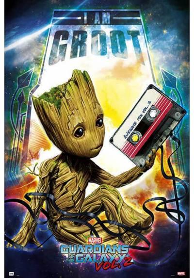 Poster Marvel Guardianes de la Galaxia Vol.2 - Groot (POSTER 61 x 91,5)