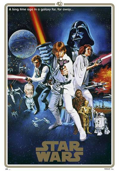 Poster Star Wars 40 aniversario (POSTER 61 x 91,5)
