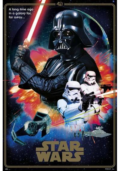 Poster Star Wars 40 aniversario - Villanos (POSTER 61 x 91,5)