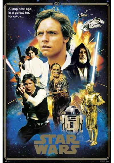 Poster Star Wars 40 aniversario - Heroes (POSTER 61 x 91,5)