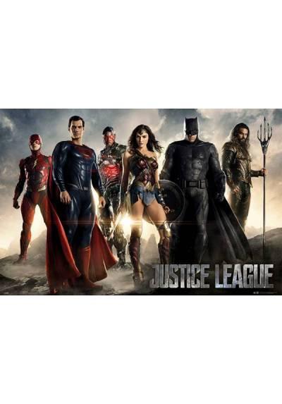 Poster Horizontal La Liga de la Justicia - Personajes (POSTER 91,5 x 61)
