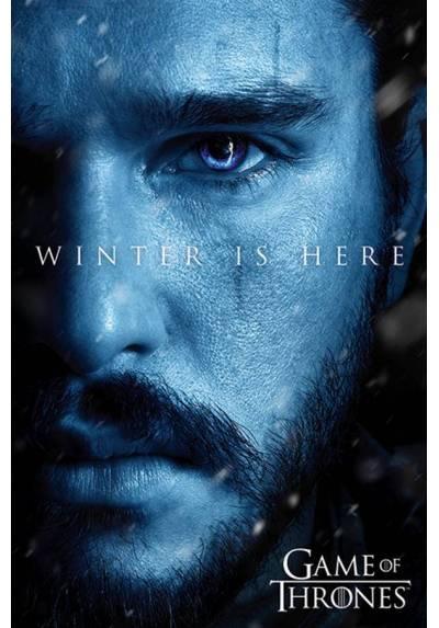 Poster Juego de Tronos - El Invierno esta aqui Jon (Winter is here Jon) (POSTER 61 x 91,5)
