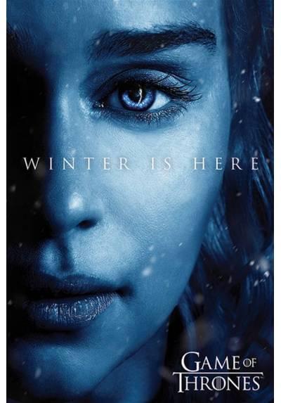 Poster Juego de Tronos - El Invierno esta aqui Daenerys (Winter is here Daenerys) (POSTER 61 x 91,5)