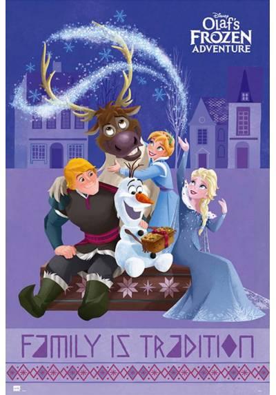 Poster La Aventura Congelada de Olaf - Personajes (POSTER 61 x 91,5)