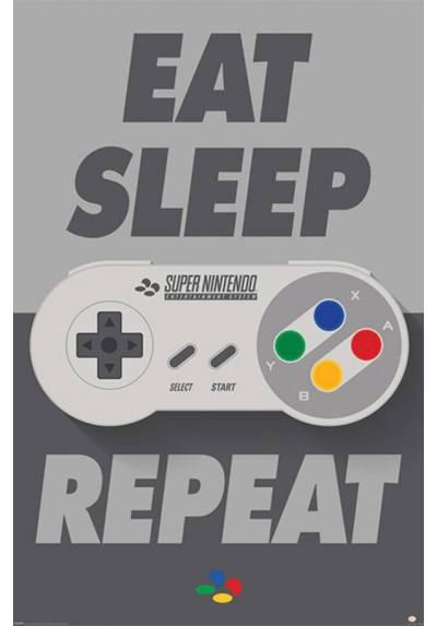 Poster Nintendo Controlador Snes (Snes Comtroller) (POSTER 61 x 91,5)