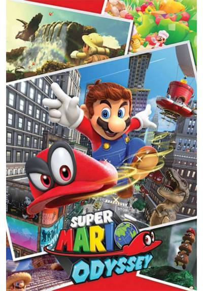 Poster Super Mario Collage Odyssey (Odyssey Collage) (POSTER 61 x 91,5)