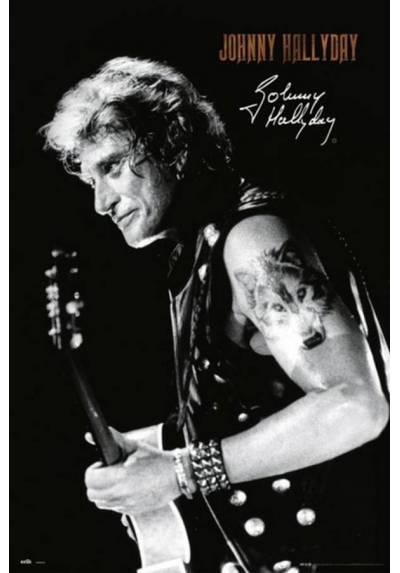 Poster Johnny Hallyday - Firma (Johnny Hallyday - Signature) (POSTER 61 x 91,5)