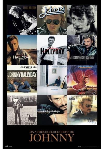 Poster Johnny Hallyday - Cubiertas de Discos (Johnny Hallyday - Covers) (POSTER 61 x 91,5)
