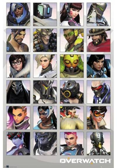 Poster Overwatch Tracer Cheers Love - Personajes (POSTER 61 x 91,5)