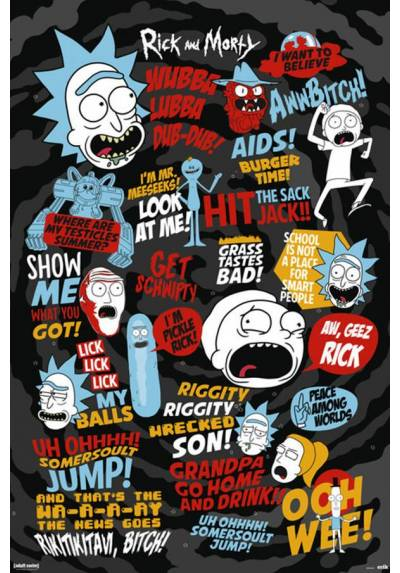 Poster Citas de Rick y Morty (Rick and Morty Quotes) (POSTER 61 x 91,5)
