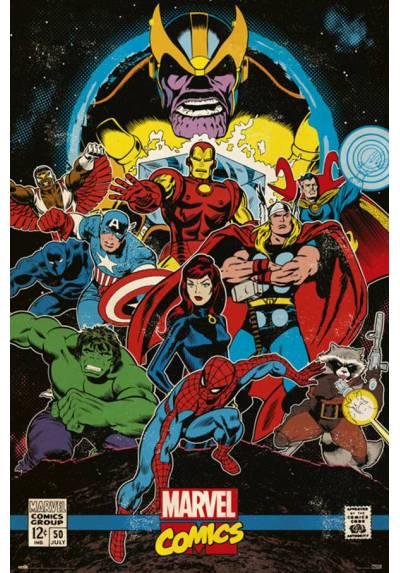 Poster Marvel Comic Retro Infinito (Comic Infinity Retro) (POSTER 61 x 91,5)