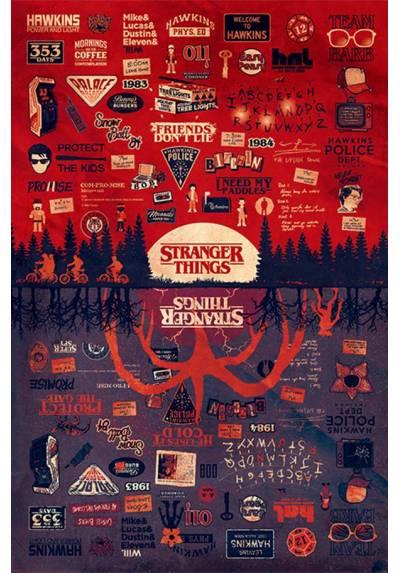Poster Stranger Things - Al Reves (Stranger Things - The Upside Down) (POSTER 61 x 91,5)