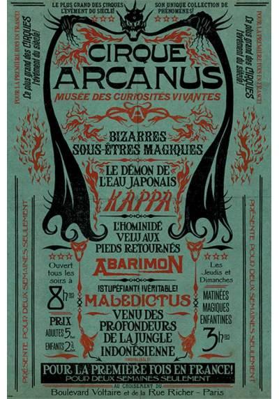 Poster Animales Fantasticos: Los Crimenes de Grindelwald - El Circo Arcanus (POSTER 61 x 91,5)