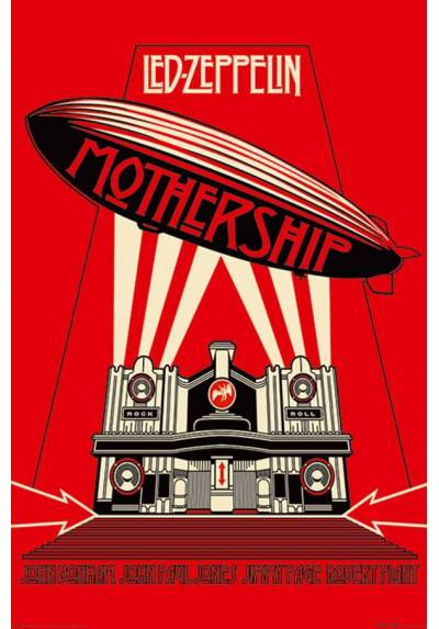 Poster Led Zeppelin - Mothership Red (POSTER 61 x 91,5)