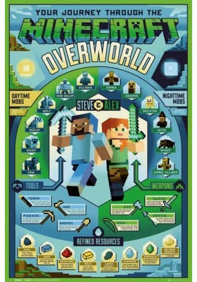 Poster Minecraft: Overworld Biome (POSTER 61 x 91,5)