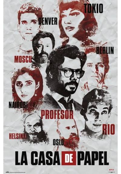 Poster La Casa de papel - Personajes (POSTER 61 x 91,5)