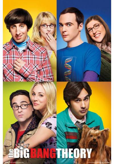 Poster The Big Bang Theory - Personajes (POSTER 61 x 91,5)