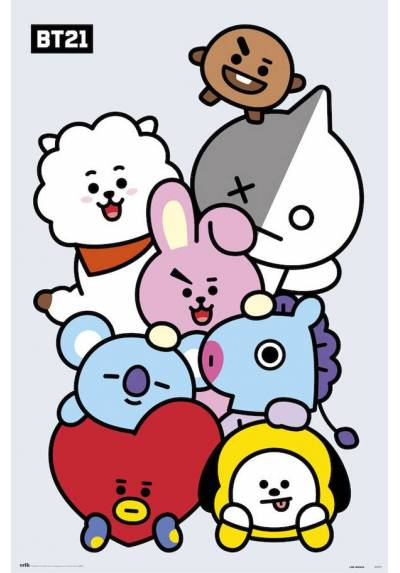 Poster BT21 - Personajes (POSTER 61 x 91,5)