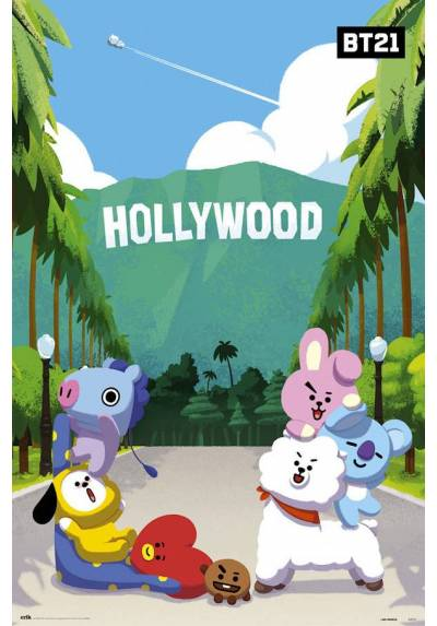 Poster BT21 - Hollywood (POSTER 61 x 91,5)