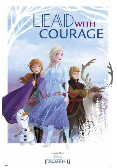 Poster Disney Frozen II - Lidera Con Valor (Lead with Courage) (POSTER 61 x 91,5)