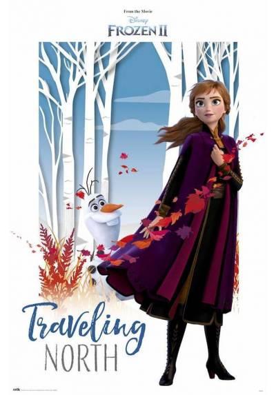 Poster Disney Frozen II - Viajando al Norte (Traveling Noth) (POSTER 61 x 91,5)